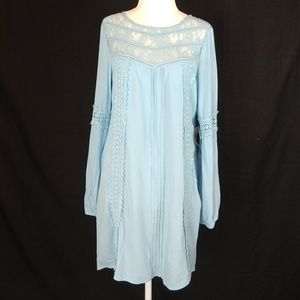 NWT Altar'd State Long SleeveLace Inset Dress Sz S